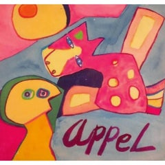 Karel Appel, NL, 1921-2006, Biomorphics, W/C