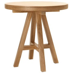 Hardwood Side Table, Contemporary Brazilian Design