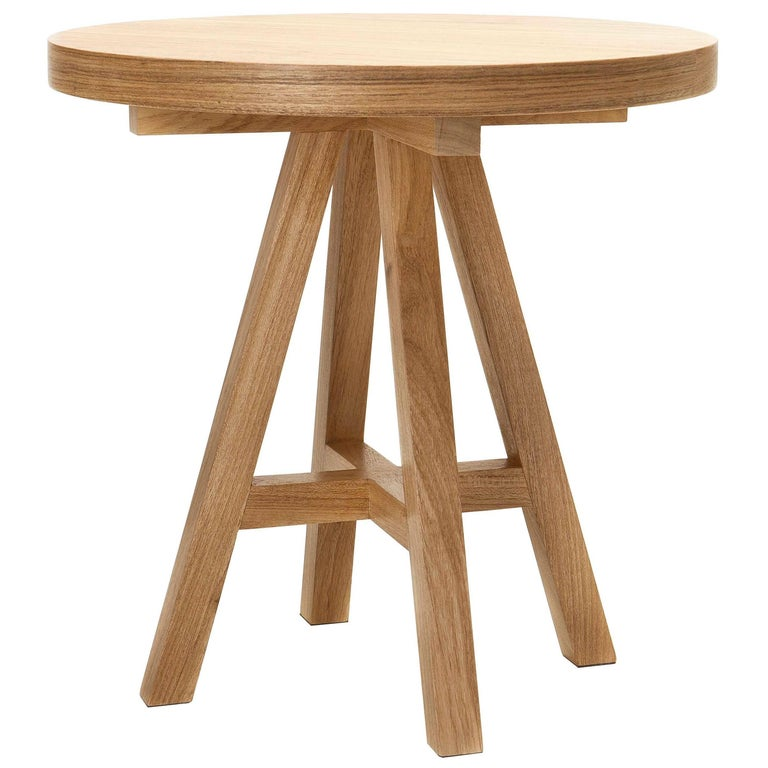 """""""SE7E"""" Tray Table in Tropical Brazilian Hardwood, Contemporary Style"""