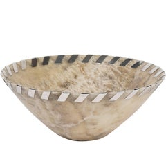 Large Alabaster and Sterling Silver Bowl by John Hardy