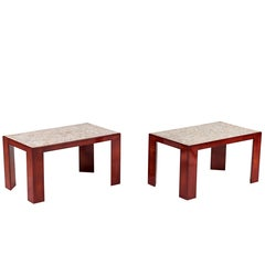 Pair of Lacquered Rectangular Side Tables