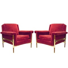 Unusual Pair of Italian Midcentury Lounge Chairs