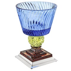 Monica Goblet in Blue, Yellow and Amber