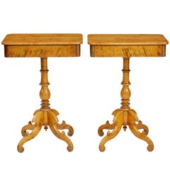 Pair of 19th Century Birch Occasional Tables