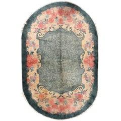 Handmade Antique Art Deco Chinese Rug, 1920s, 1B452