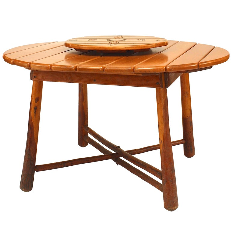 American Rustic Old Hickory Dining Table (1940s)
