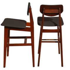 Pair of Rare Jens Risom Bar Stools