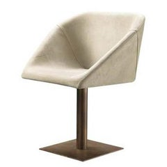Hexagon Swivel Chair with Base in Steel