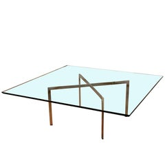 Mid-Century Modern Mies van der Rohe Knoll Barcelona, Large Square Coffee Table