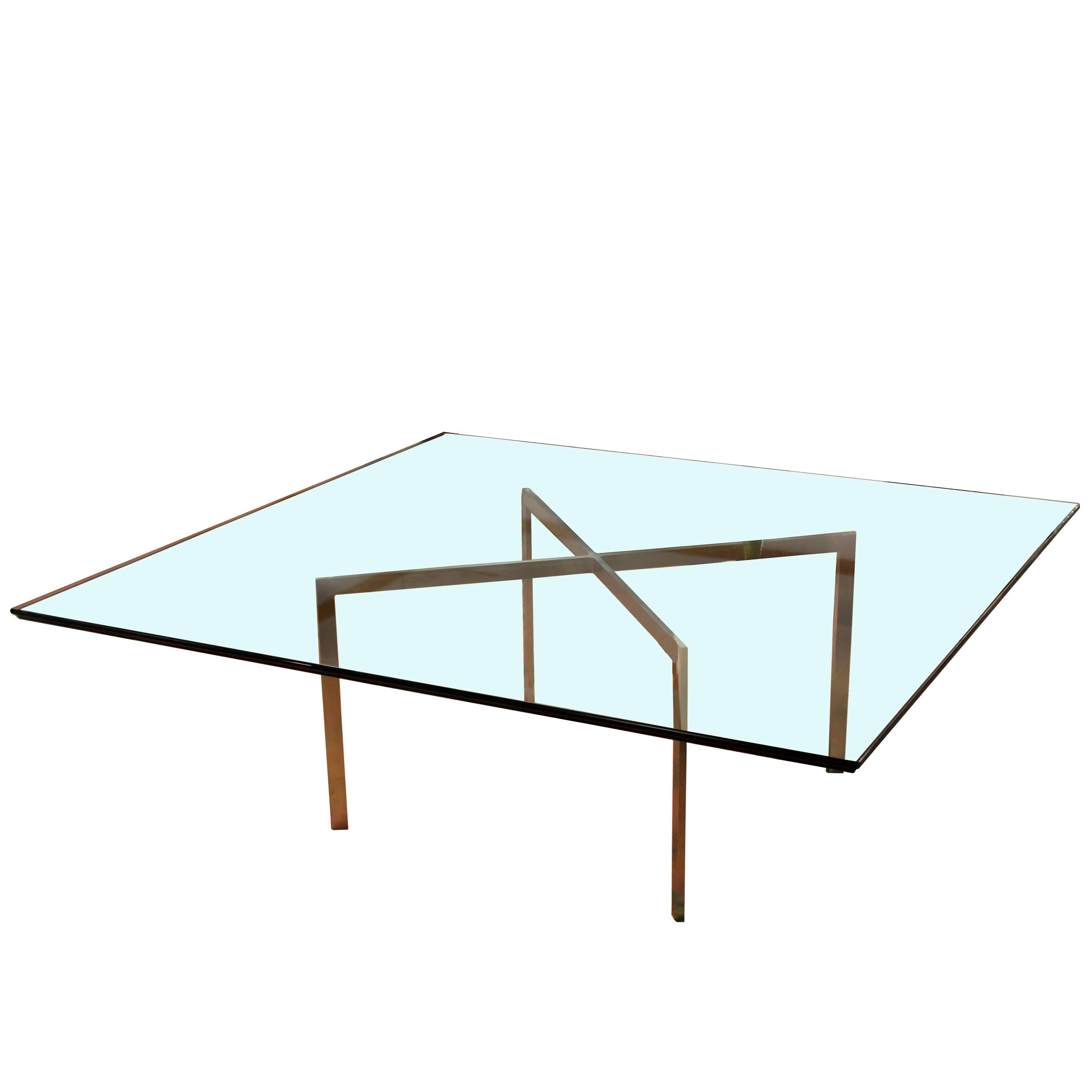 Mid Century Modern Mies Van Der Rohe Knoll Barcelona, Large Square Coffee  Table