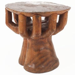 Rustic American Walnut Carved Centre/End Table