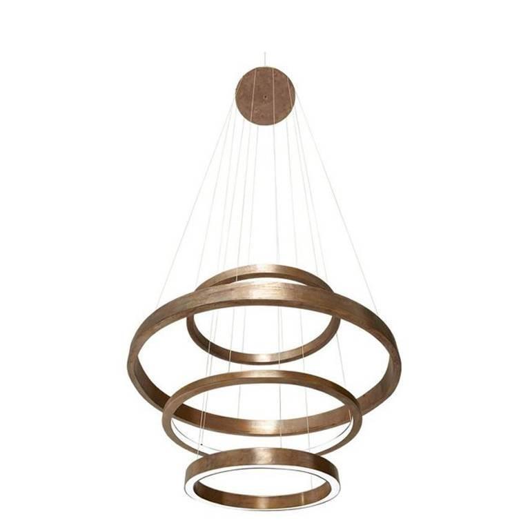 Light Ring Pendant Lamp Four Rings Composition