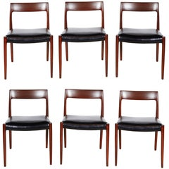 Neils Moller No 77 Dining Chairs, Set of Six
