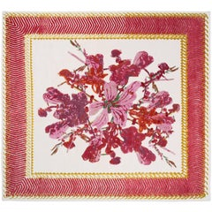 Savage Flowers 'Red Harmony,' Hand-Knotted Rug Designed Kiki Van Eijk for Nodus
