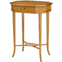 Early 20th Century Octagonal Birch Work Table