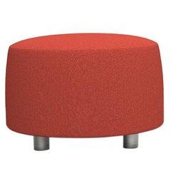 21st Century Ottoman Upholstered Conversation Red Satyendra Pakhalé