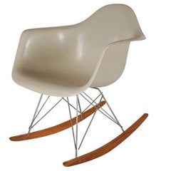 Mid-Century Modern Rocking Chair by Eames for Herman Miller in White Fiberglass