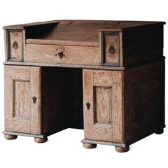 18th Century, Swedish Baroque Kneehole Desk