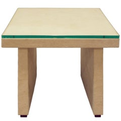 T-Style Occasional Table in Ultrasuede, 1970s