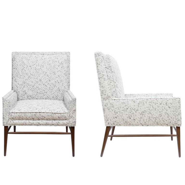 Pair of McIntosh Stepped Arm Armchairs