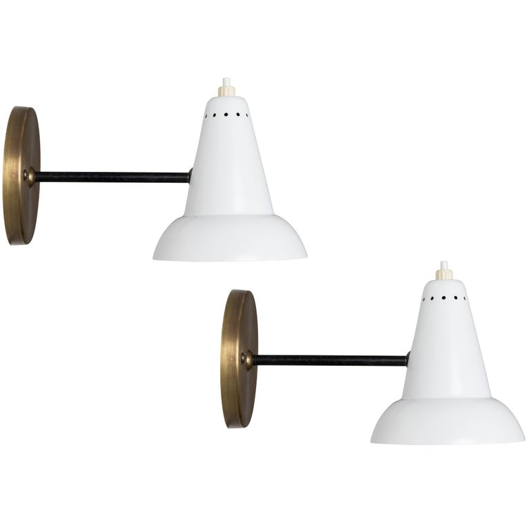 1950s Italian Articulating Sconces Attributed to Gino Sarfatti