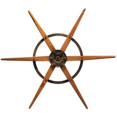 Metal and Wood Architectural Wheel