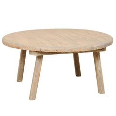 Round Rustic Coffee Tables For Sale On Stdibs - Rustic cream coffee table