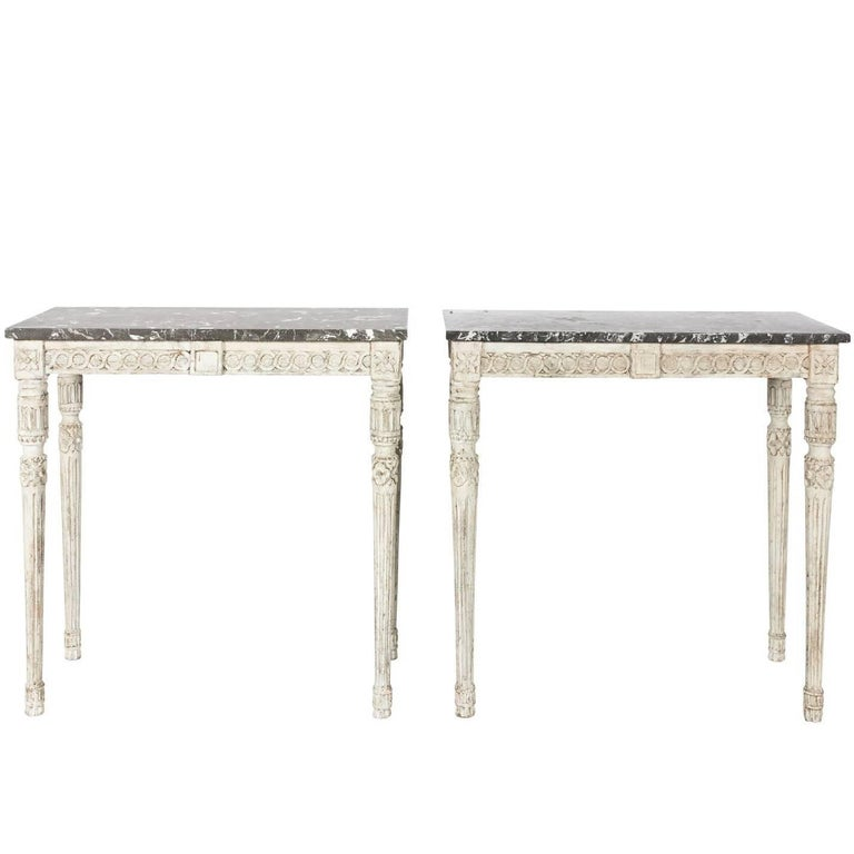 Pair of 19th Century Gustavian Console Tables