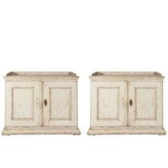 Pair of 18th Century, Swedish Two-Door Cabinets
