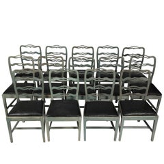Set of 14 Dining Chairs, circa 1880s