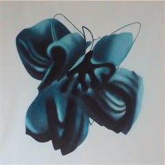 """""""Heavenly Body XX"""" by Taeko Mima Oil on Canvas Painting, 1982"""