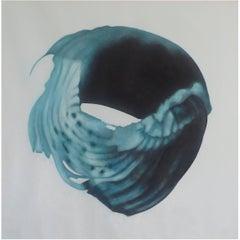"""Heavenly Body XXXIII"" by Taeko Mima Oil on Canvas Painting, 1985"