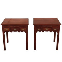 Pair of Custom Quality Mahogany Side Tables