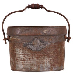 Industrial Era English Firefighters Bucket by F. Francis