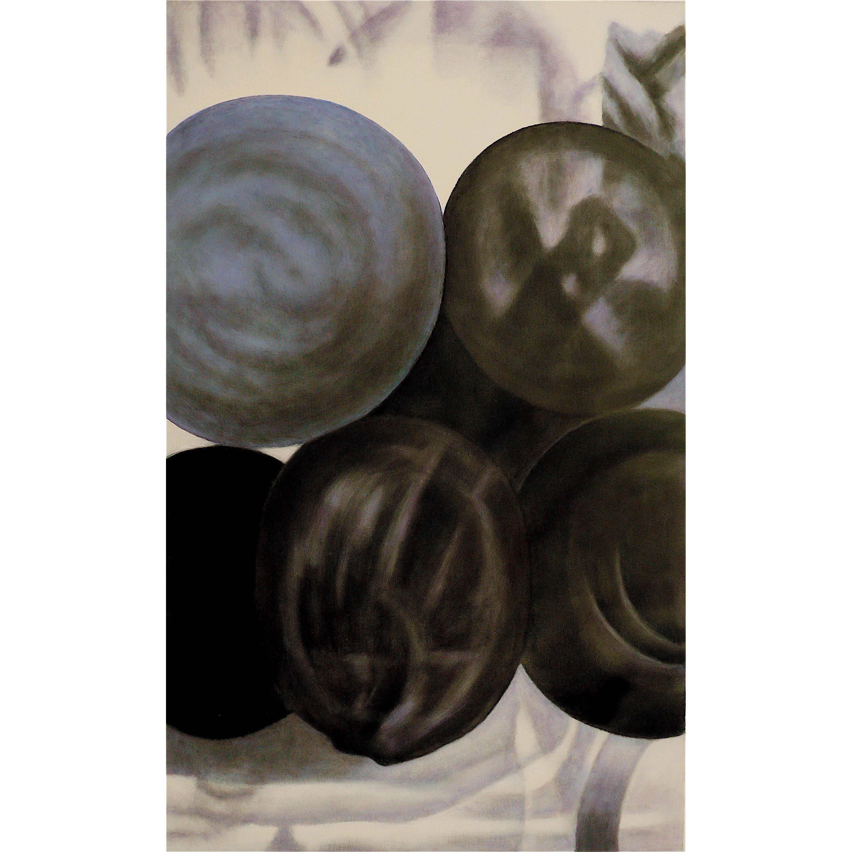 """""""Stack of watermelons"""" by Taeko Mima Oil on Canvas Painting, 1997"""