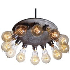 Simple and Spectacular Industrial 12 Bulb Cluster