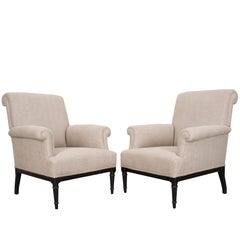 Pair of 19th Century French Upholstered Bergères
