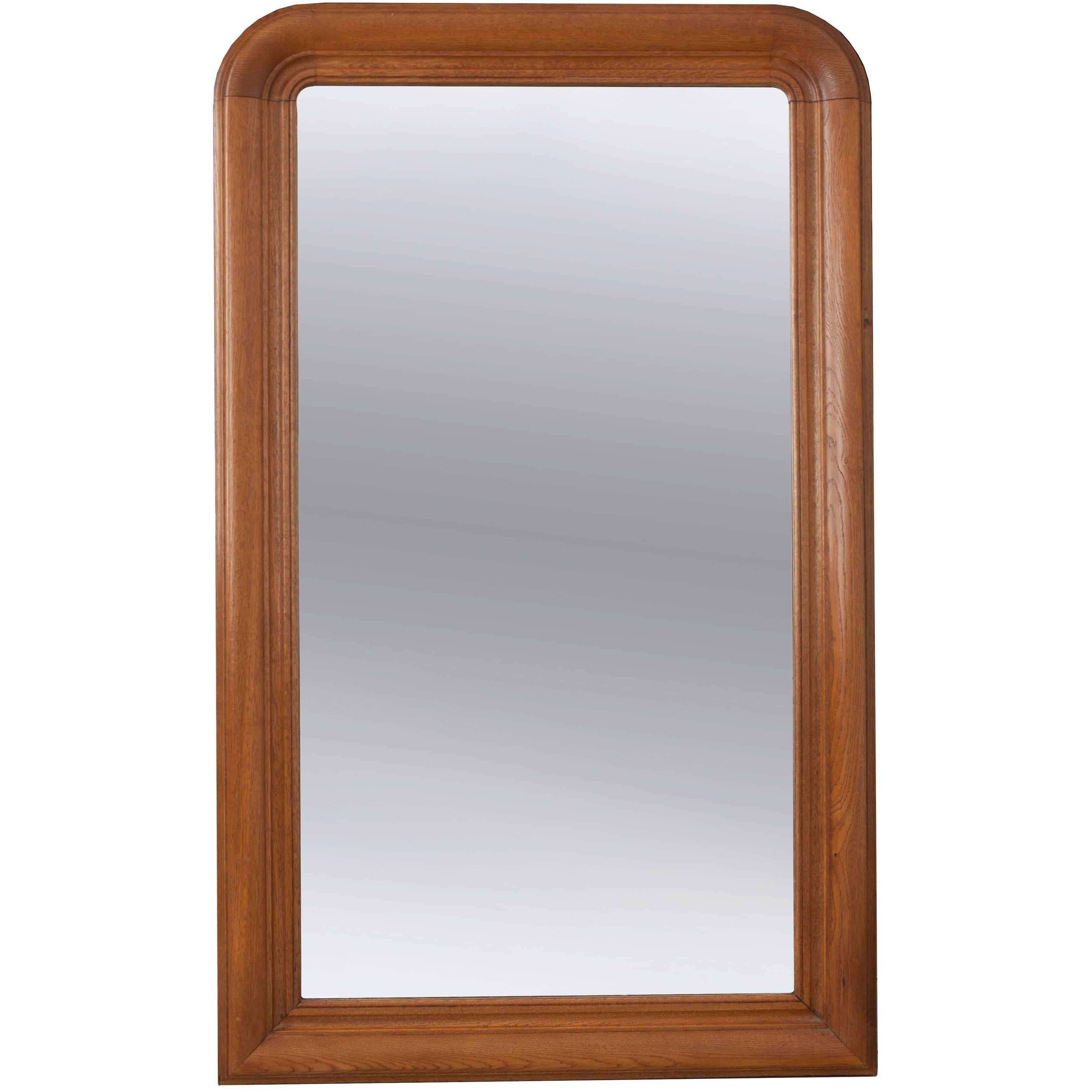 French 19th Century Oak Louis Philippe Mirror