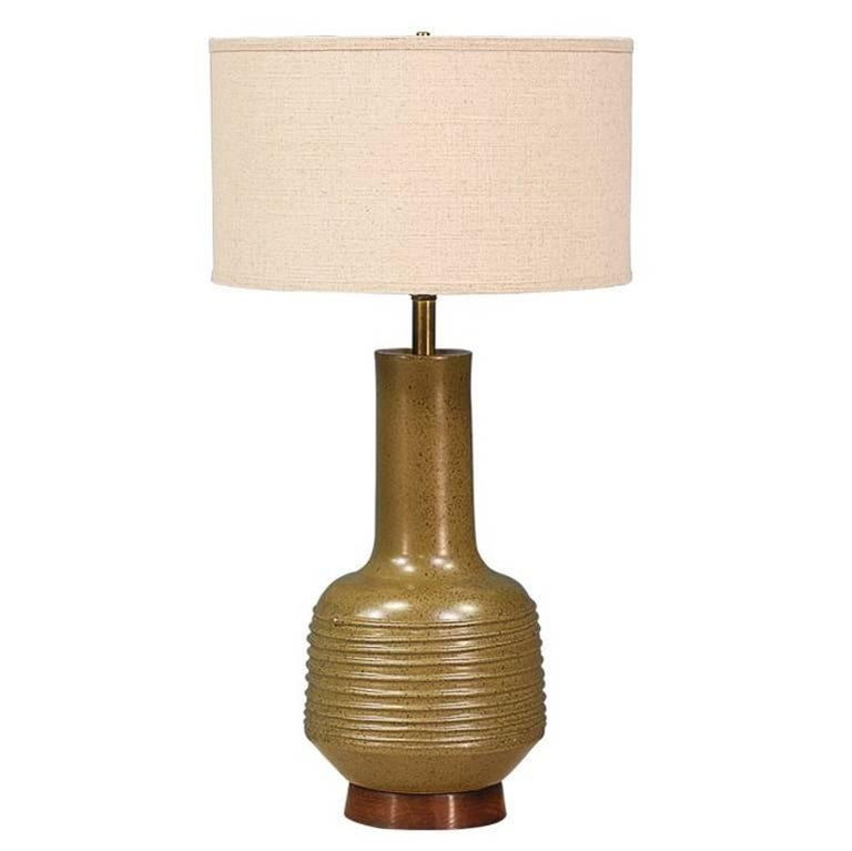 David Cressey Olive Green Ceramic Table Lamp For Architectural