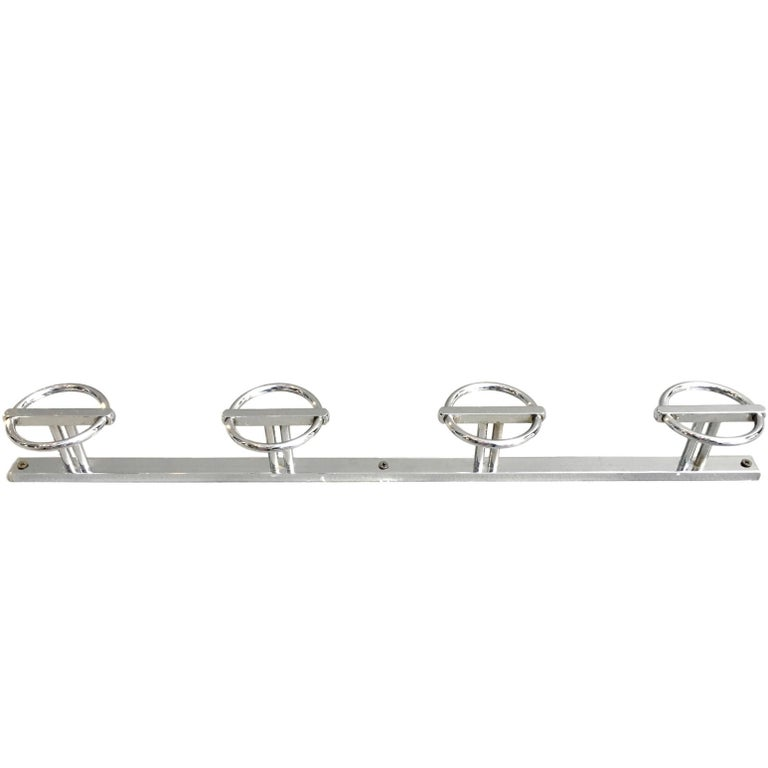 Large Nickel Coat Rack In The Style Of Jean Royère For Sale At 40stdibs Interesting Nickel Coat Rack