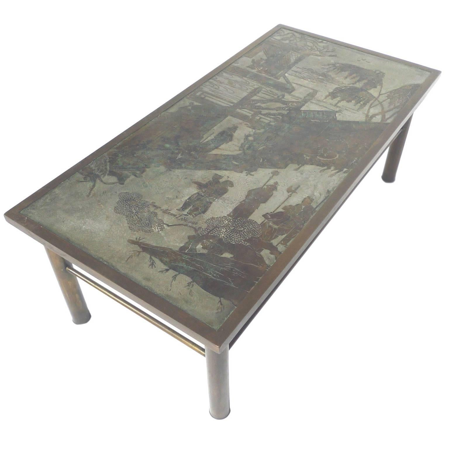 Philip U0026amp; Kelvin Laverne Etched Bronze Coffee Table