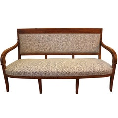 Vintage French Open Arm Sofa
