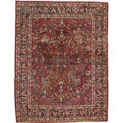 Antique Sarouk Persian Rug with Traditional Style