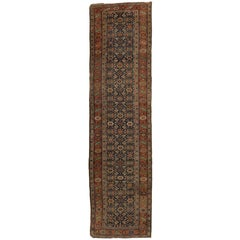 Antique Persian Bijar Runner with Traditional Modern Style