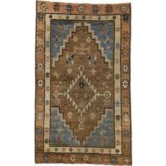 Antique Persian Bakshaish Rug with Modern Tribal Style