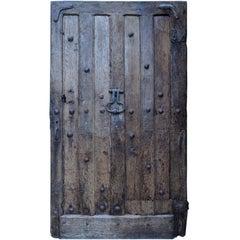 Imposing Oak Entrance Door, 16th Century