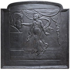 Cast Iron Fireback Presenting the Mouth of Truth, 19th Century