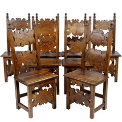 Walnut Renaissance Dining Chairs