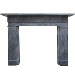 Mid-19th Century Irish Grey Marble Fireplace Surround