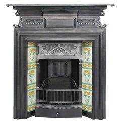 Elegant Late Victorian Cast Iron Combination Fireplace